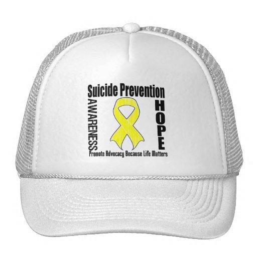 La defensa importa prevención del suicidio gorras