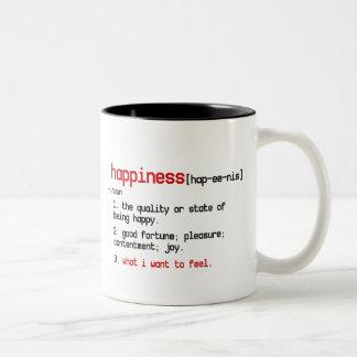 la definición de la taza de la felicidad