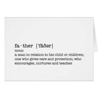La definición de un padre; El mejor papá en el mun Tarjetas