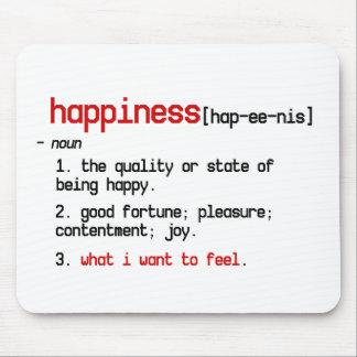 la definición del mousepad de la felicidad