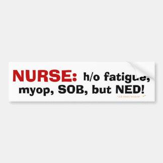 La definición del oficio de enfermera divertido de pegatina para auto