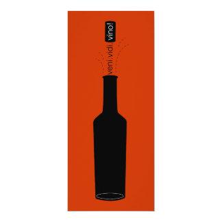 """La degustación de vinos del vino de Veni Vidi del Invitación 4"""" X 9.25"""""""