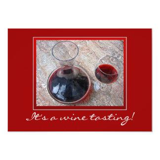"""¡La degustación de vinos invita! Invitación 5"""" X 7"""""""
