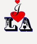 LA del amor del ღ♥I 3/4 béisbol T♥ღ del raglán de  Camisetas