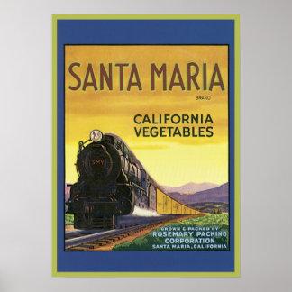 La del cajón de las verduras de Santa María Califo Posters