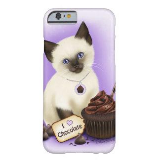 La del chocolate del caso de siamés del iPhone 6 Funda Para iPhone 6 Barely There