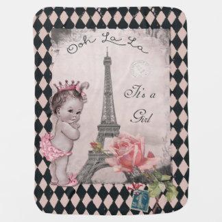 La del La de Ooh es princesa torre Eiffel del Manta De Bebé