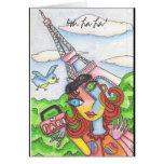 ¡La del La de Ooh! Mujer en París Felicitación
