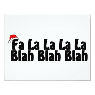 """La del La del La del La del Fa soso - Navidad sosa Invitación 4.25"""" X 5.5"""""""