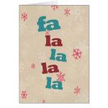 La del la del la del la del tarjeta-Fa del navidad