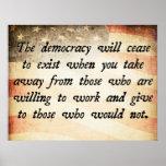 La democracia dejará de existir cita impresiones