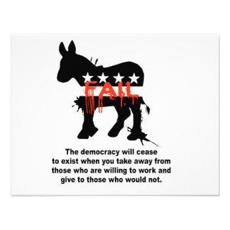 La democracia dejará de existir comunicados personales