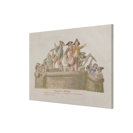 La demolición del Bastille, julio de 1789 Impresiones En Lona
