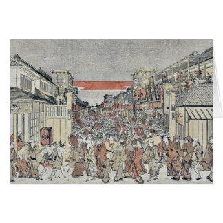 La demostración de la noche por Utagawa, Toyoharu Tarjetas