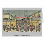 La demostración de la noche por Utagawa, Toyoharu Tarjeton