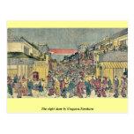 La demostración de la noche por Utagawa, Toyoharu Postales