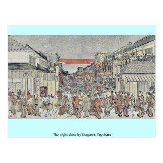 La demostración de la noche por Utagawa, Toyoharu Postal