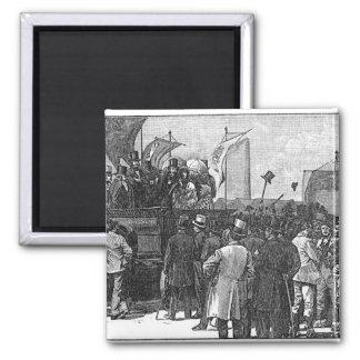 La demostración del Chartist en Kennington Imán Cuadrado