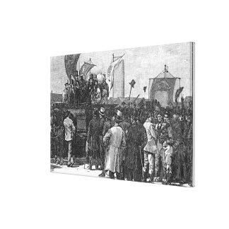La demostración del Chartist en Kennington Impresión De Lienzo