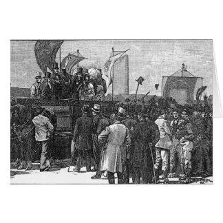 La demostración del Chartist en Kennington Tarjeta De Felicitación