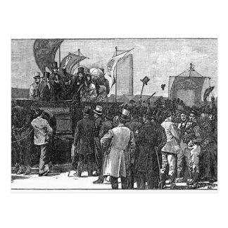 La demostración del Chartist en Kennington Tarjeta Postal