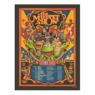 La demostración del Muppet - poster del viaje magn Postal