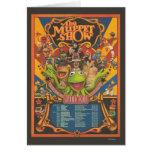 La demostración del Muppet - poster del viaje magn Tarjeta De Felicitación
