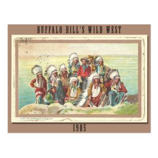La demostración del oeste salvaje 1905 de Buffalo Postales