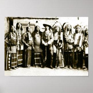 La demostración del oeste salvaje de Buffalo Bill Póster