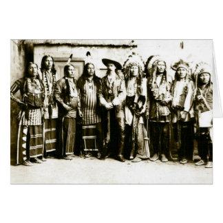 La demostración del oeste salvaje de Buffalo Bill Tarjetón