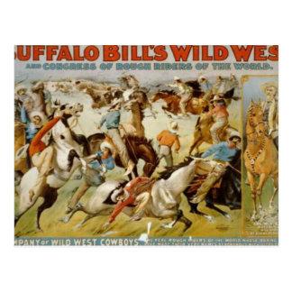 La demostración del oeste salvaje de Buffalo Bill Tarjetas Postales