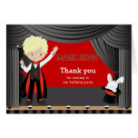 La demostración mágica le agradece tarjeta de felicitación