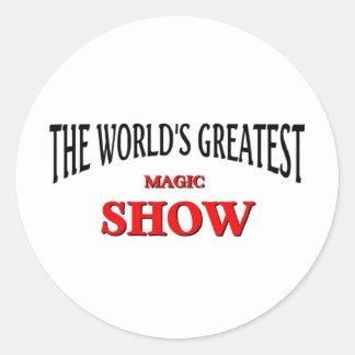 La demostración mágica más grande del mundo pegatina redonda