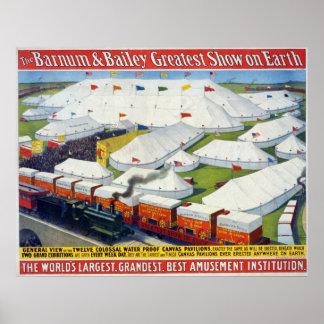 La demostración más grande de Barnum y de Bailey e Impresiones