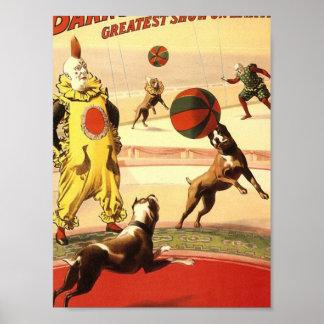 La demostración más grande de Barnum y de Bailey e Poster