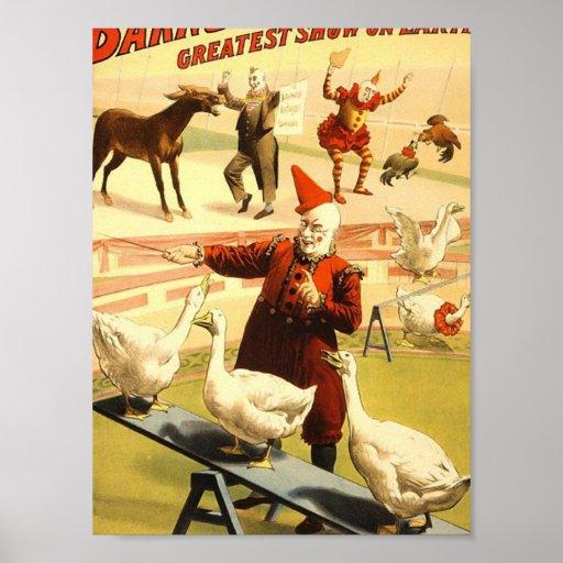 La demostración más grande de Barnum y de Bailey e Póster
