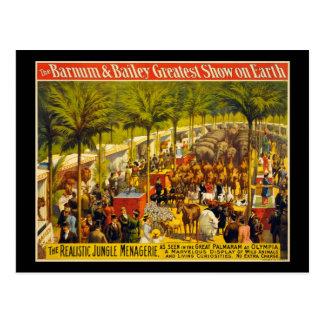 La demostración más grande de Barnum y de Bailey Postal