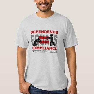 La dependencia iguala conformidad camisas