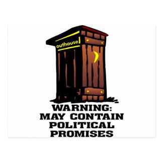 La dependencia puede contener promesas políticas postales