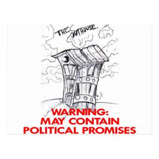 La dependencia puede contener promesas políticas tarjeta postal