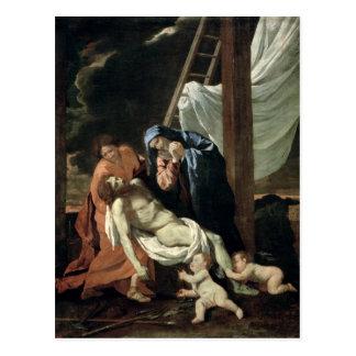 La deposición, c.1630 postal