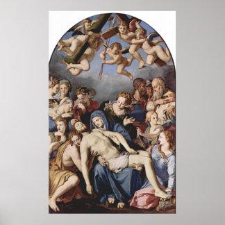 La deposición de Bronzino de Cristo de Ángel Bronz Posters