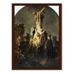 La deposición. Por Rembrandt Van Rijn Postales