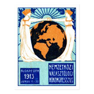La derecha 1913 de la mujer de votar postal