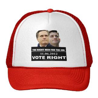La derecha 2012 del voto gorras de camionero