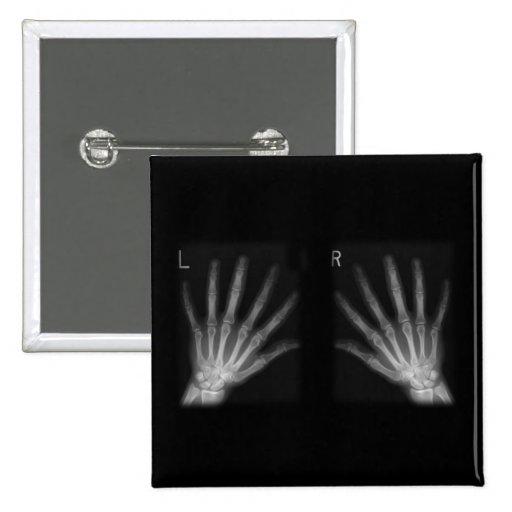 La derecha adicional y manos izquierdas de la pin cuadrado