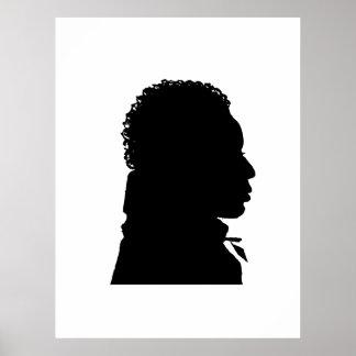 la derecha africana del poster del arte