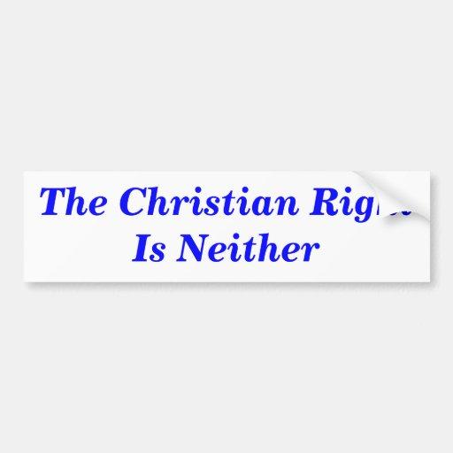 La derecha cristiana no es ninguna pegatina para e etiqueta de parachoque