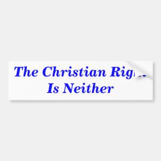 La derecha cristiana no es ninguna pegatina para pegatina para auto