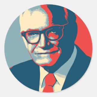 La derecha de Barry Goldwater Etiqueta Redonda